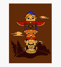 64bit Totem Pole Photographic Print