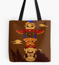 64bit Totem Pole Tote Bag