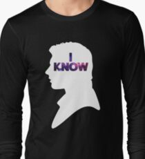 Star Wars Han 'I Know' White Silhouette Couple Tee  Long Sleeve T-Shirt