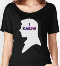 Star Wars Han 'I Know' White Silhouette Couple Tee  Women's Relaxed Fit T-Shirt