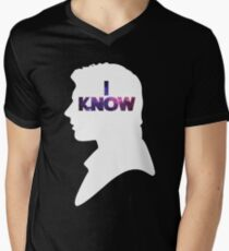 Star Wars Han 'I Know' White Silhouette Couple Tee  Men's V-Neck T-Shirt