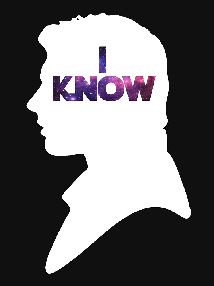 Star Wars Han 'I Know' White Silhouette Couple Tee  by fabulouslypoor