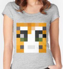 Stampy Minecraft skin Fitted Scoop T-Shirt