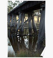 Old Rail Bridge Cavendish Victoria  Poster