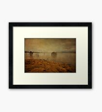 Wivenhoe dam. Queensland. Australia Framed Print