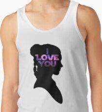 Star Wars Leia 'I Love You' Black Silhouette Couple Tee Tank Top