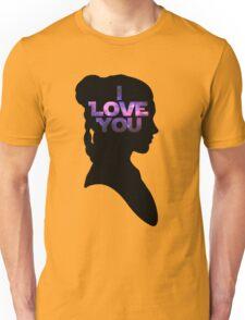 Star Wars Leia 'I Love You' Black Silhouette Couple Tee Unisex T-Shirt