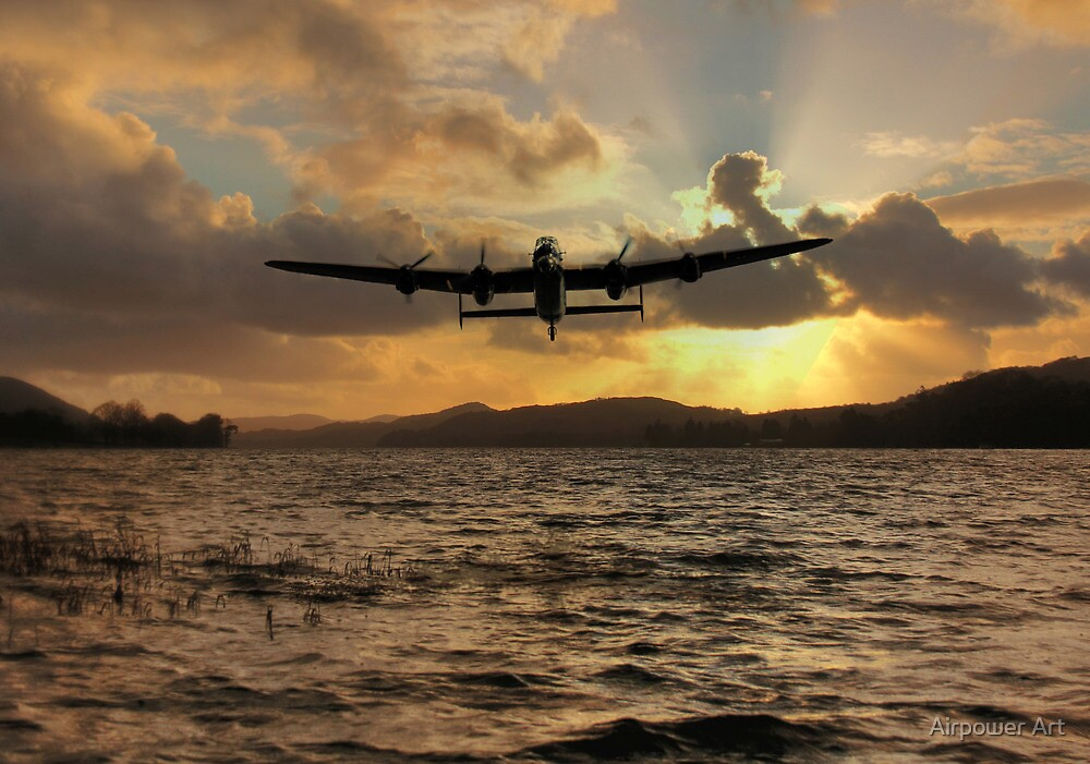 Lancaster and the Lake by Airpower Art