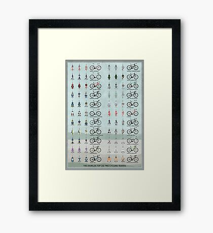 Pro Cycling Teams Framed Print
