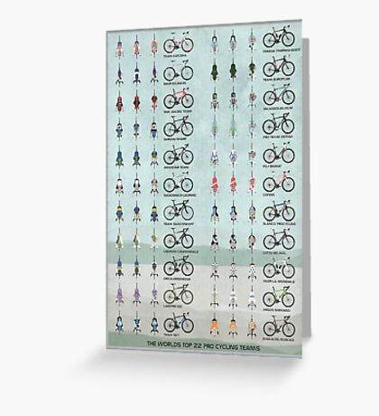 Pro Cycling Teams Greeting Card