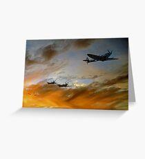 Squadron Scramble Greeting Card
