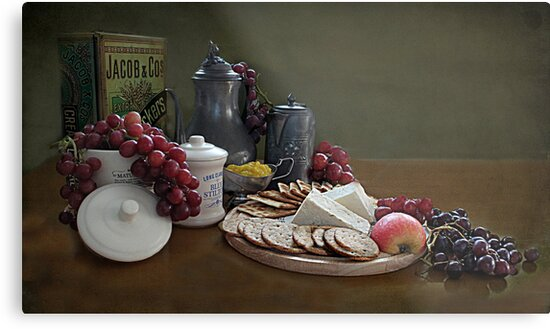 Crackers and Cheese by Irene  Burdell