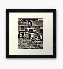Old Timey Truck Zoomer Framed Print
