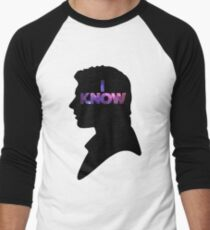 Star Wars Han 'I Know' Black Silhouette Couple Tee Men's Baseball ¾ T-Shirt