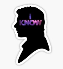 Star Wars Han 'I Know' Black Silhouette Couple Tee Sticker