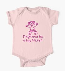 I'm gonna be a big sister One Piece - Short Sleeve