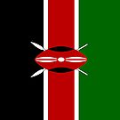 Kenya Flag by pjwuebker