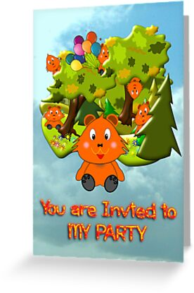Teddy Bear's Picnic - party invitation by Dennis Melling