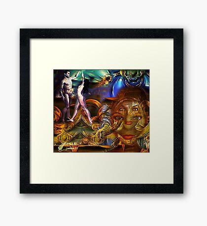 Dancing in the moonlight  Framed Print