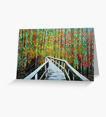 Walkway in the woods  Greeting Card