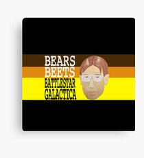 Bears Beets Battlestar Galactica Canvas Print