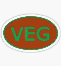 Vegan Vegetarian Symbol T-Shirt Sticker
