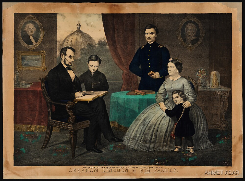 Kelly & Sons portrait of Abraham Lincoln and his family by MotionAge Media
