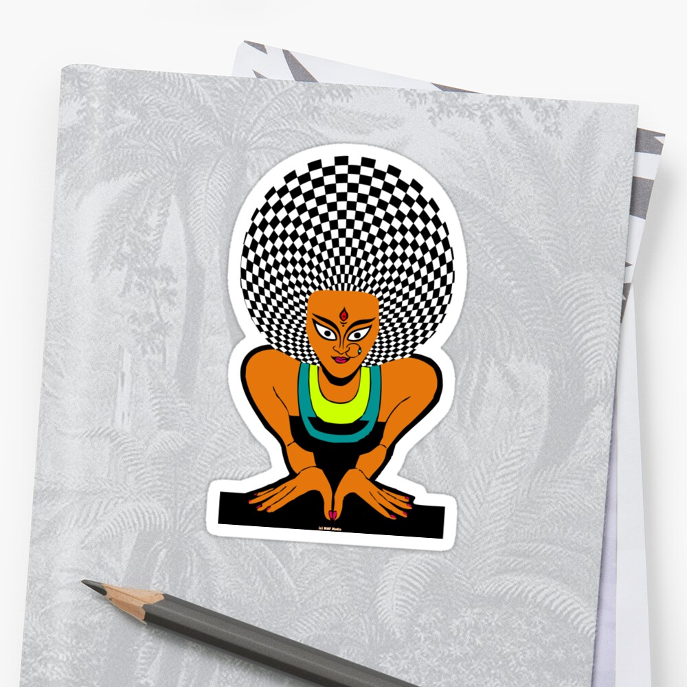 Psychedelic Desi Indian T-Shirt  by mindofpeace