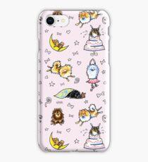 Pomeranian Pattern Pink iPhone Case/Skin