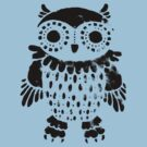 """Owl"" black print by Madita"