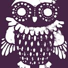 """Owl"" white print by Madita"