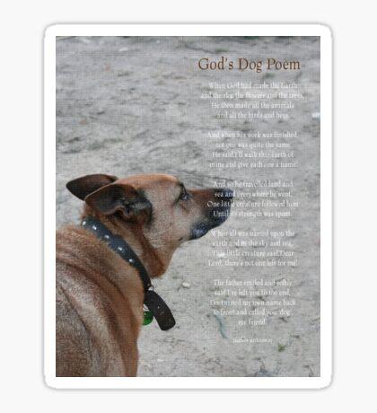 God's Dog Poem Sticker
