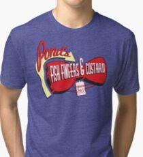 Fish Fingers & Custard Tri-blend T-Shirt