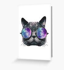 Cat Eye Galaxy Greeting Card