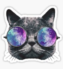 Cat Eye Galaxy Sticker