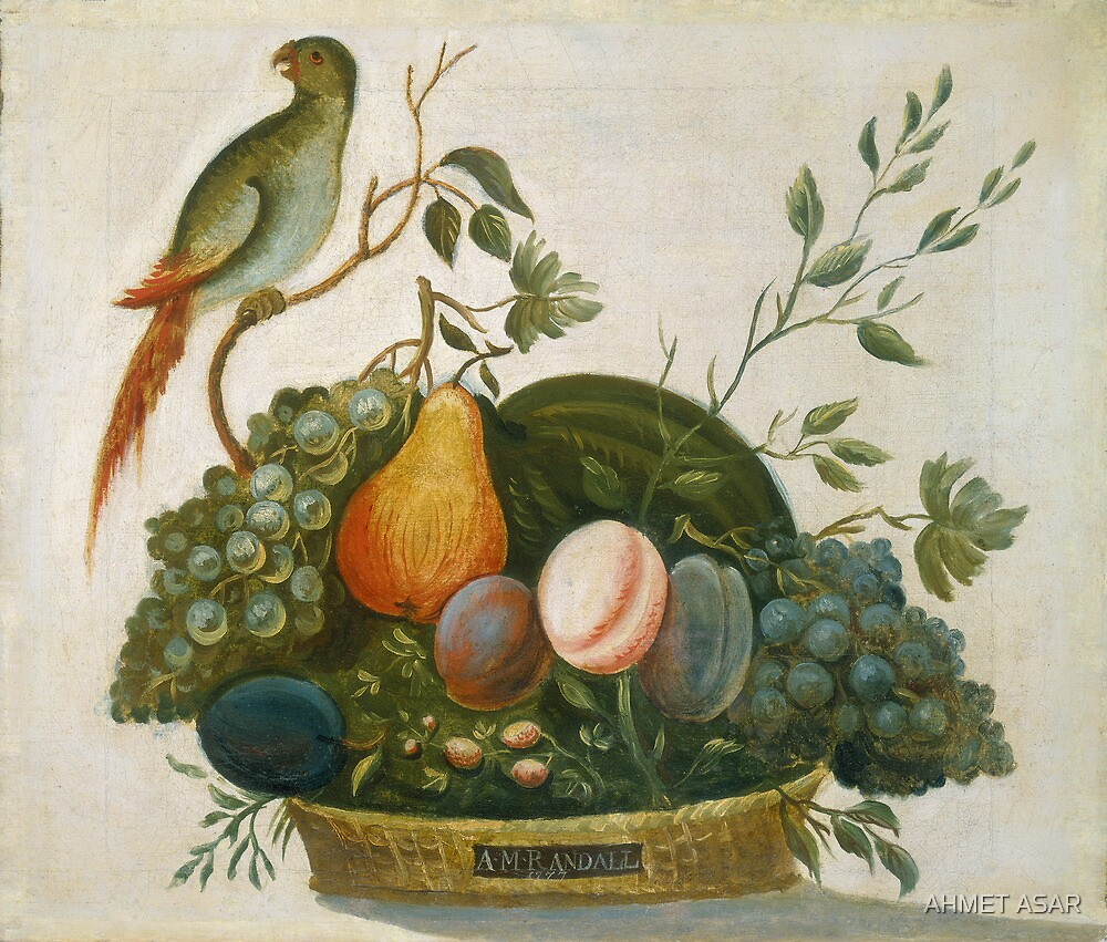 A.M. Randall Basket of Fruit with Parrot 1777 by MotionAge Media