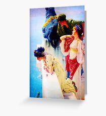A Coign of Vantage by Sir Lawrence Alma Tadema Greeting Card