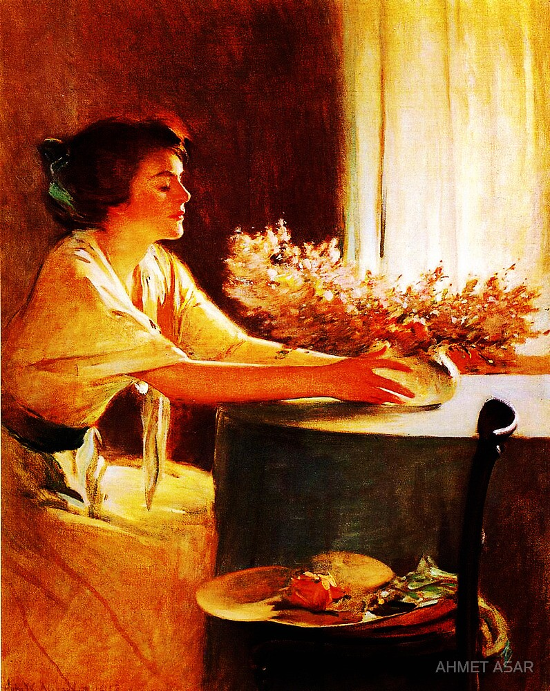 A Meadow Flower by John White Alexander by MotionAge Media