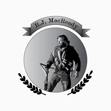 R.J. MacReady Grayscale by AlanGrube