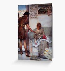 A Silent Greeting by Sir Lawrence Alma Tadema Greeting Card
