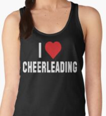 I Love Cheerleading Dark Women's Tank Top