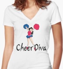 Cheer Diva Women's Fitted V-Neck T-Shirt