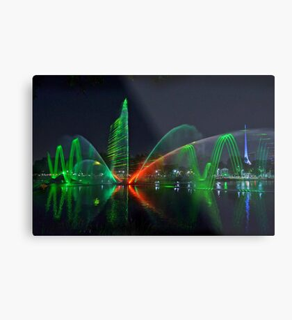 Laser Light Show #1 Metal Print
