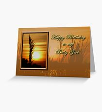Birthday To My Baby Girl Sunset Greeting Card