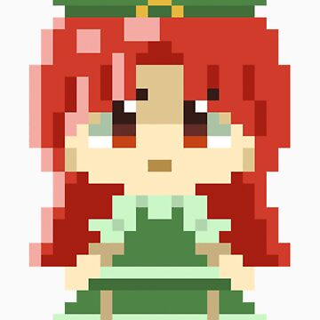 Hong Meiling Pixels Sticker by Astrotoast