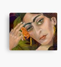 Frida Kahlo: When I dream Canvas Print