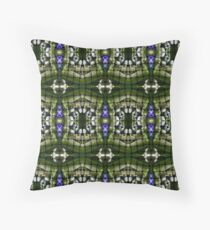 Stained glass looking design. Throw Pillow