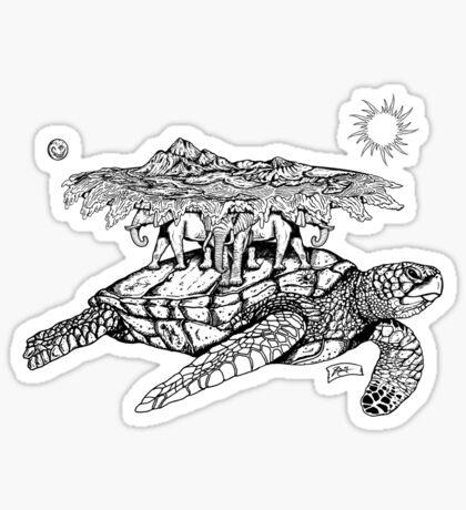 World Turtle Sticker