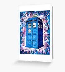 Tardis Splat - Doctor Who Greeting Card