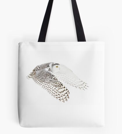 Wings Out - Snowy Owl Tote Bag